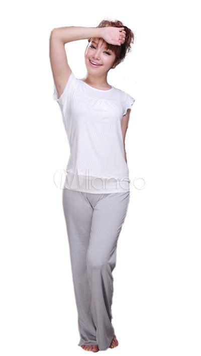 is spandex comfortable comfortable white and gray lycra cotton yoga wear