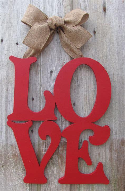 wooden letters home decor love valentine s day door decor wooden letter art home