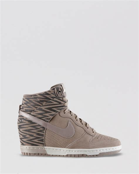 womans high top sneakers nike high top wedge sneakers womens dunk sky hi in brown