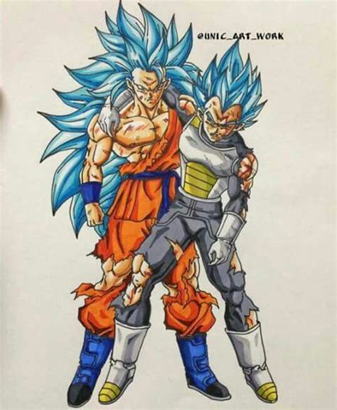 imagenes de goku herido goku super saiyajin blue fase 3 y vegeta super saiyajin