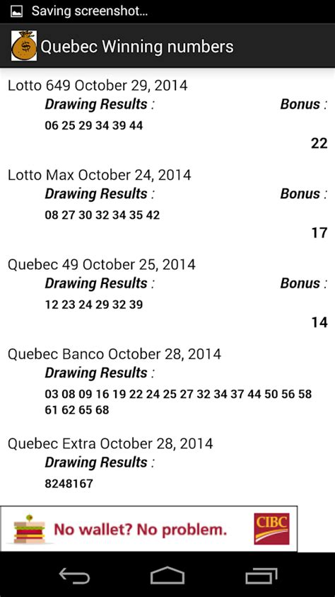 banco winning numbers qu 233 bec lotto winning numbers android apps on google play