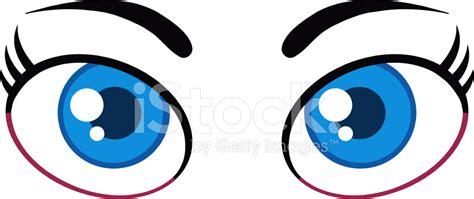 imagenes de unos ojos animados ojos azules femeninos de dibujos animados stock vector
