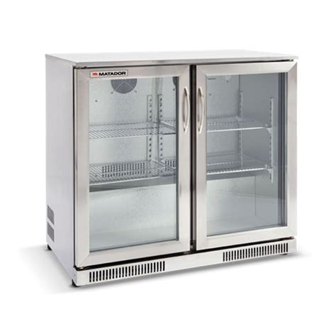glass door stainless steel bar fridge matador 228l stainless steel door bar fridge i n