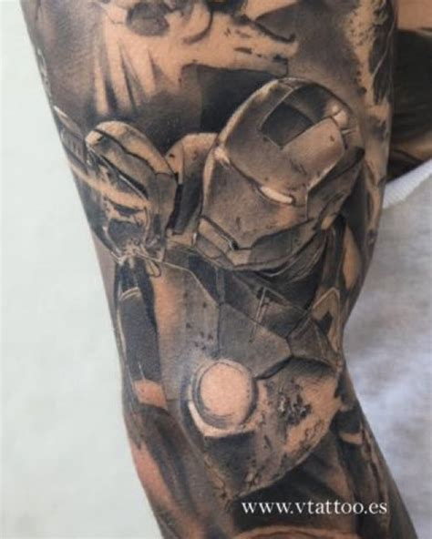 superhero iron man tattoo venice tattoo art designs