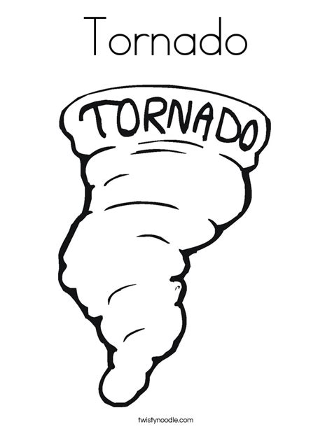 tornado coloring page twisty noodle