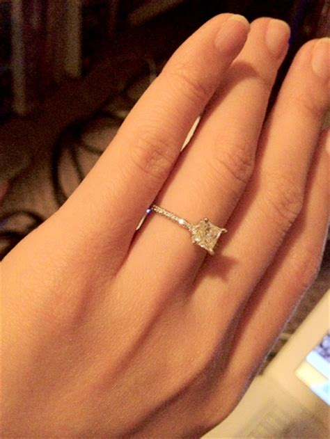 can i see your thin engagement bands weddingbee