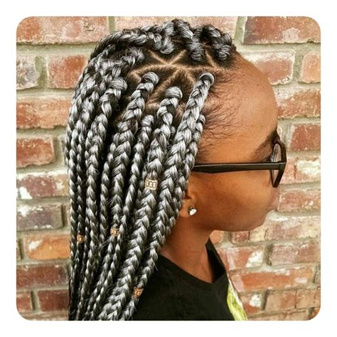 how to do triangle parts for hair braiding 65 cool triangle box braids that are so convenient