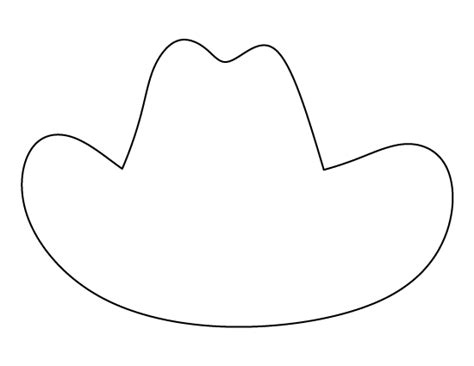 Cowboy Hat Template search results for hat template printable calendar