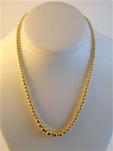 14k gold add a bead necklace 14k gold graduated add a bead necklace gold jewelry