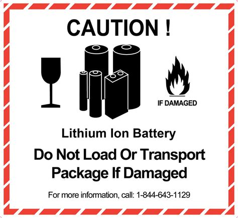 Hazard Class 9 Hazard Labels Explained General Data Lithium Ion Battery Label Template