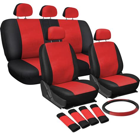 oxgord car cover oxgord faux leather car seat covers 17pc set w steering