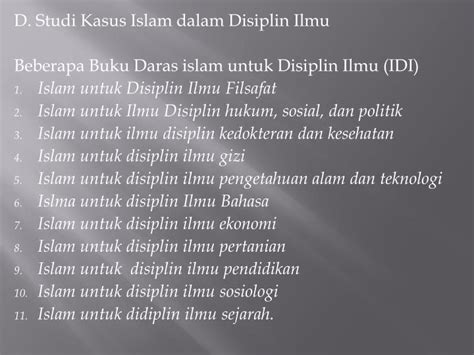 Ilmu Hukum Holistik Studi Untuk Memahami Kompleksitas Dan Pengaturan ppt islam dan ilmu pengetahuan powerpoint presentation id 4402462