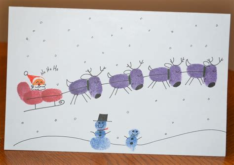 Thumb Print Cards Craft By Free Template by Poems For Fingerprint Reindeer Just B Cause