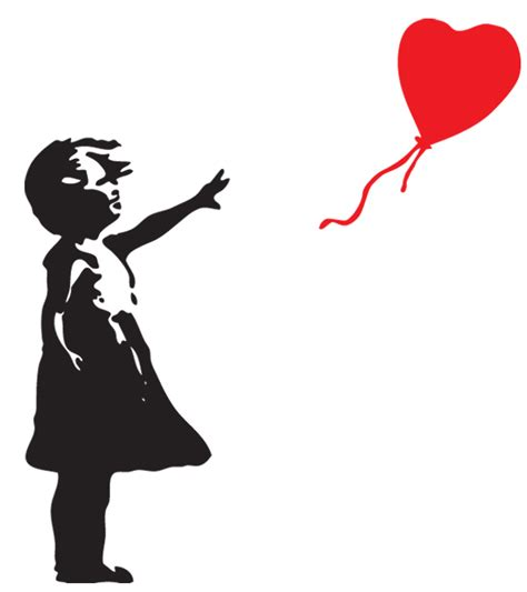 Banksy Home Decor by Floating Balloon Amp Banksy Inspired Wall Decal