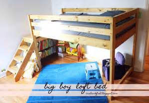 white big boy toddler loft bed diy projects