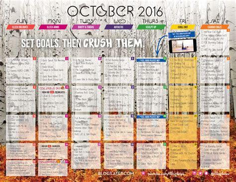 workout calendar october workout calendar blogilates fitness food and
