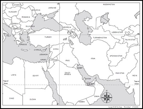 middle east map blank printable outline map of the middle east middle east map