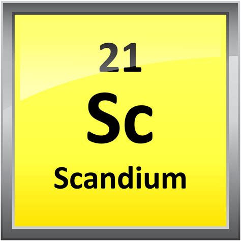 Scandium Periodic Table by 021 Scandium Science Notes And Projects