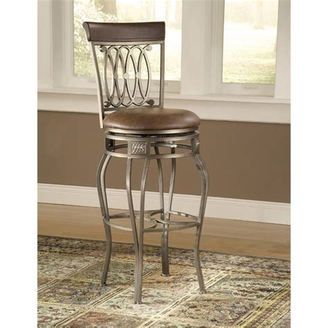 leather bar stools counter height hillsdale montello 28 quot counter height swivel faux leather