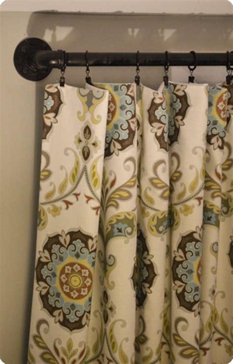 curtains pipe diy industrial pipe curtain rods diy crafts