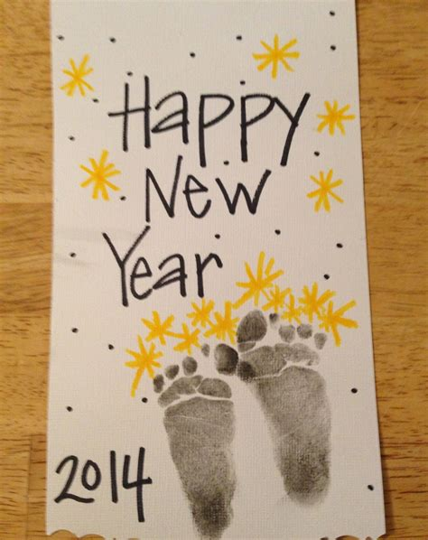 new year and craft projects new year footprints fireworks new years