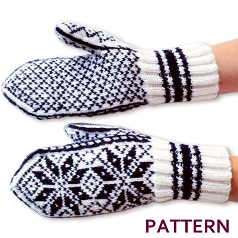 etsy mitten pattern norwegian selbu mittens pattern from annawoolmagic on etsy