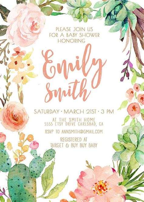 25 Best Ideas About Watercolor Invitations On Pinterest Watercolor Wedding Invitations Watercolor Flower Invitation Template