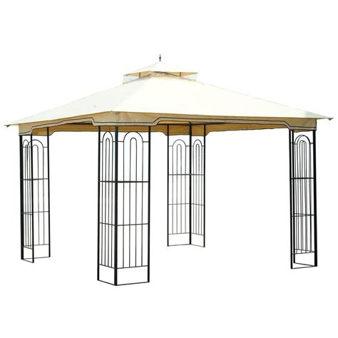 gazebo 10 x 10 hton bay 10 ft x 10 ft gazebo l gz680pst m