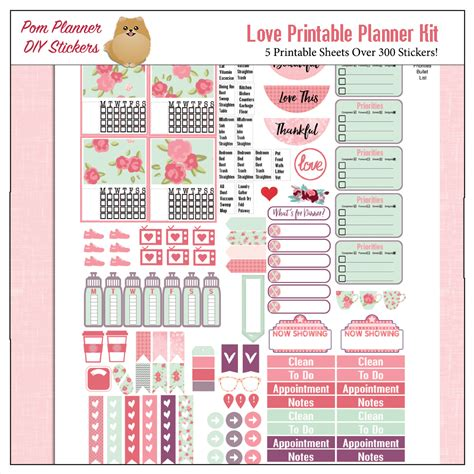 free printable valentines planner stickers love kit and free printable planner stickers bible