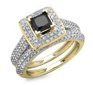 black gold wedding sets klenota a wedding set with a black gold rings jewellery