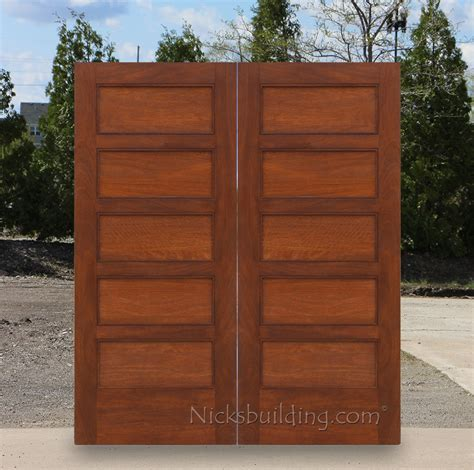 Exterior Double Doors Solid Mahogany Wood Double Doors Shaker Style Exterior Doors