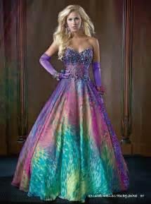 colorful prom dresses best 25 rainbow prom dress ideas on unicorn
