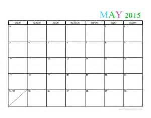 May 2015 Calendar Template by 2015 Monthly Calendar Templates