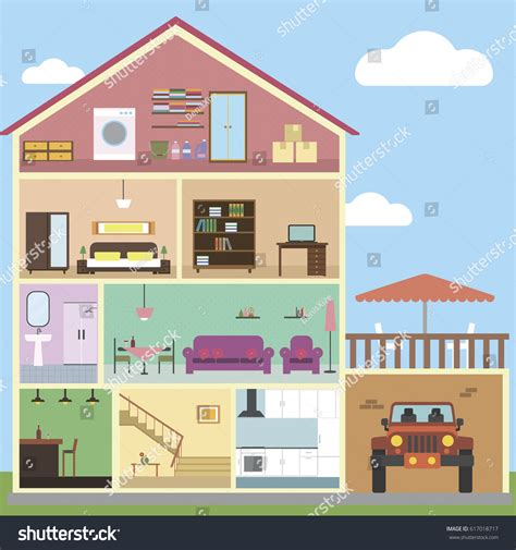 inside house interior design inside house interior design stock vector 617018717 shutterstock