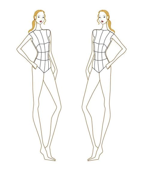 the gallery for gt fashion croquis templates