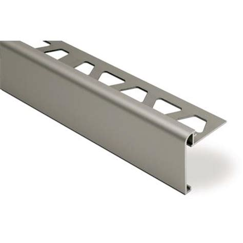 schluter rondec step edge protection for countertop and