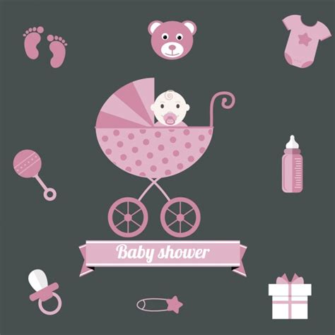 Pink Baby Shower Background by Pink Baby Shower Background For Vector Free