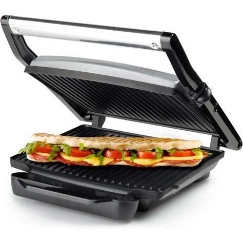 cucina panini grill piastra per panini e grill 2000w vassoio estraibile