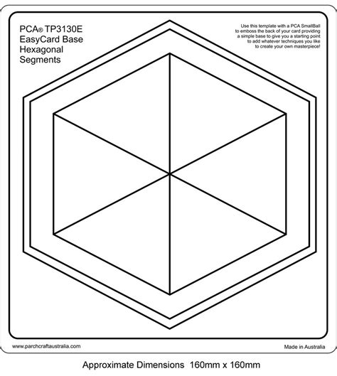 hex hex card template pca embossing templates frames and corners craft supplies