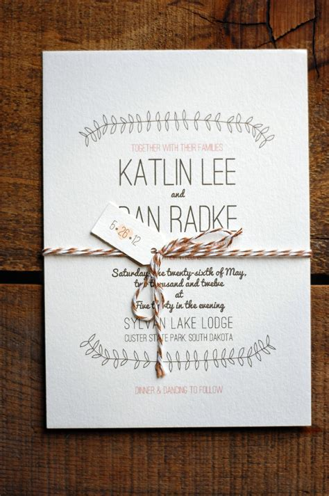 rustic elegance neutral wedding invitations custom