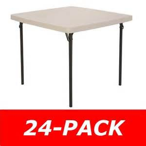 lifetime 37 quot square card table 24 pack on sale with free