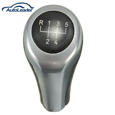 Manual Shifter Knob by Black Silver Manual 5 Speed Mt Gear Shifter Lever Shift