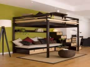 size bunk beds for adults size loft beds for adults