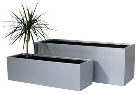 Large Silver Planters by Zinc Galvanised Silver Trough Planter Large L75cm X H32cm