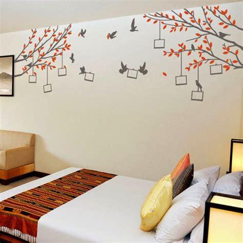 natural interior wall painting  trees  birds
