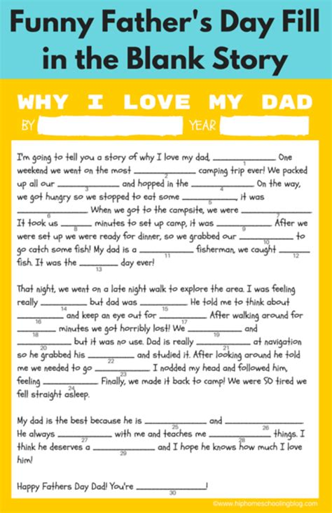 story s day free father s day printable gift ideas