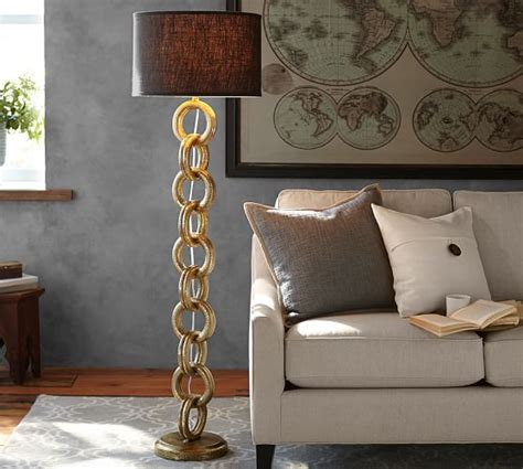 interlaced gold chain floor l base pottery barn