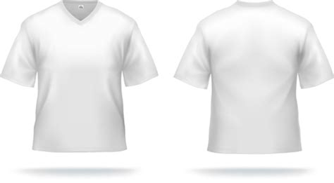 Tshirt 3d 01 white t shirts template vector set 01 millions