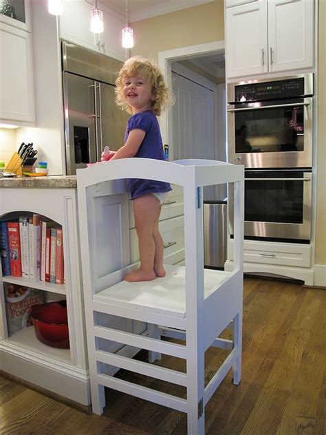 modified folding kitchen helper from white diy