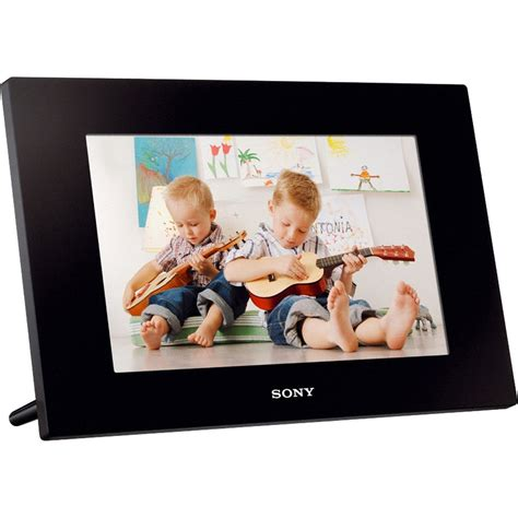 sony frame sony 10 quot digital photo frame plays dpf d1020 b h